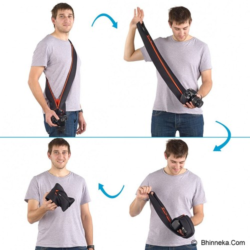 MIGGO Camera Strap and Wrap for SLR [SR-SLR BR 90] - Black/Red - Camera Strap